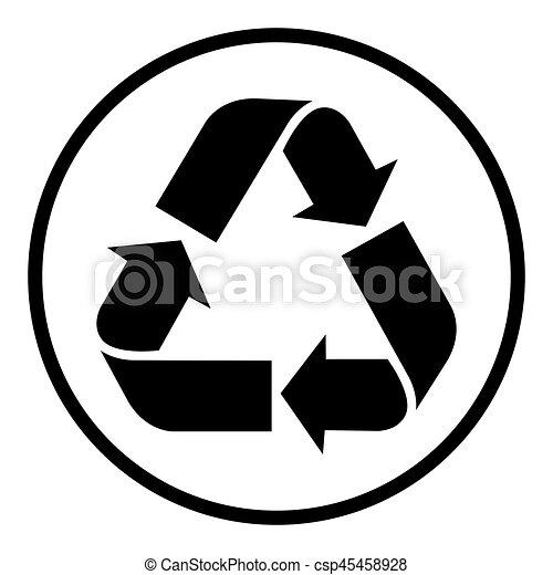Simbolo de reciclaje, símbolo de reciclaje, vector - csp45458928