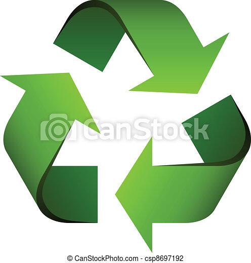 Simbolo reciclado del vector - csp8697192