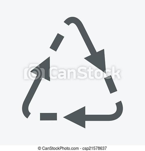 El símbolo de reciclaje de vectores - csp21578637