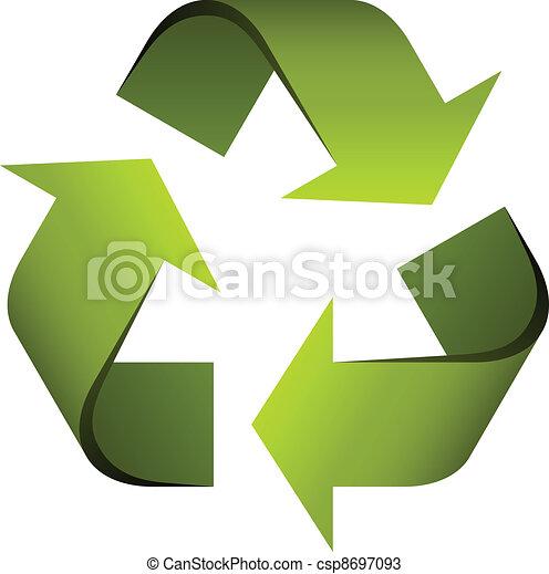 Simbolo reciclado del vector - csp8697093