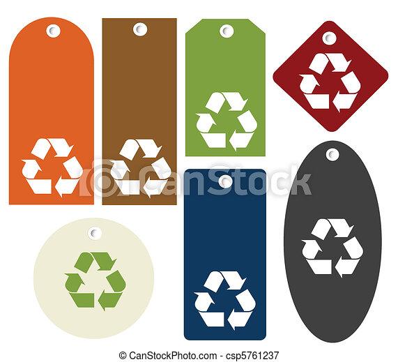 Etiquetas de reciclado - csp5761237