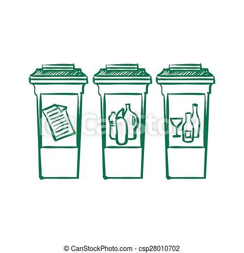 Reciclar Garabato Basura Separación Cajones