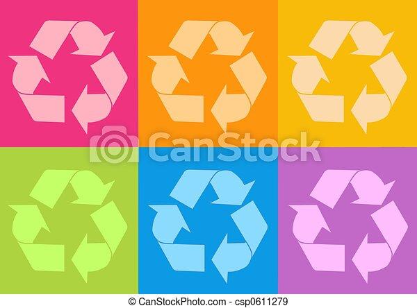 Reciclar icono - csp0611279