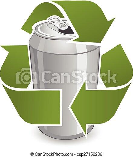 Reciclar lata reciclar dentro s mbolo lata aluminio - Simbolo de aluminio ...