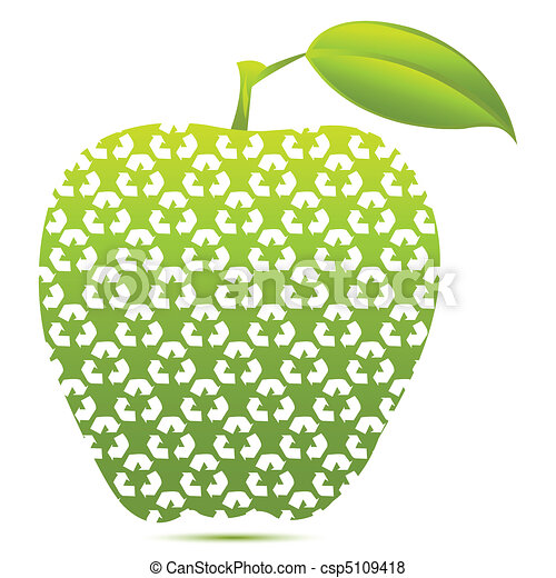 Una manzana reciclada - csp5109418