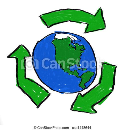 El mundo recicla - csp1448644