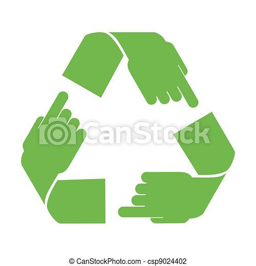 El símbolo de reciclaje de vectores - csp9024402