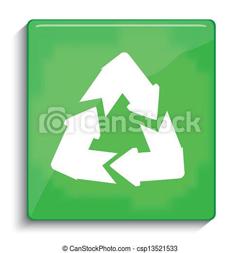 El símbolo de reciclaje de vectores - csp13521533