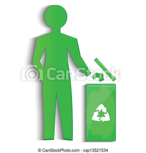 El símbolo de reciclaje de vectores - csp13521534