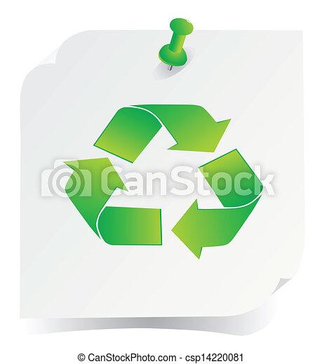 El vector verde recicla el icono - csp14220081