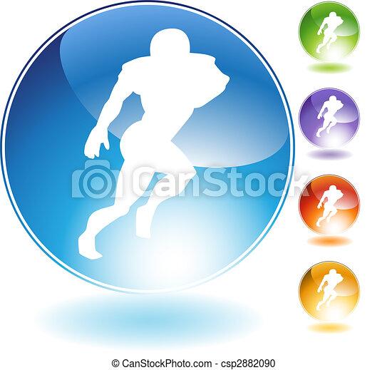Reciever Football Crystal Icon - csp2882090