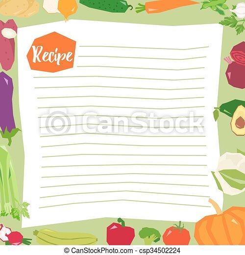 recipe blank template