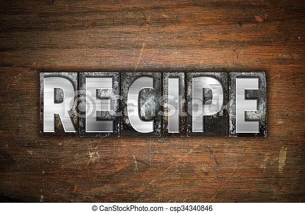 word recipe