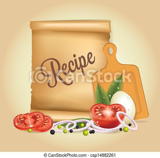 Recipes Banner - csp14882261