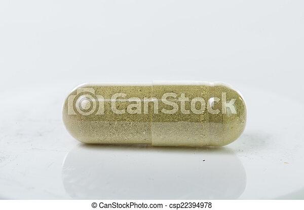 recipiente, pílulas, droga - csp22394978