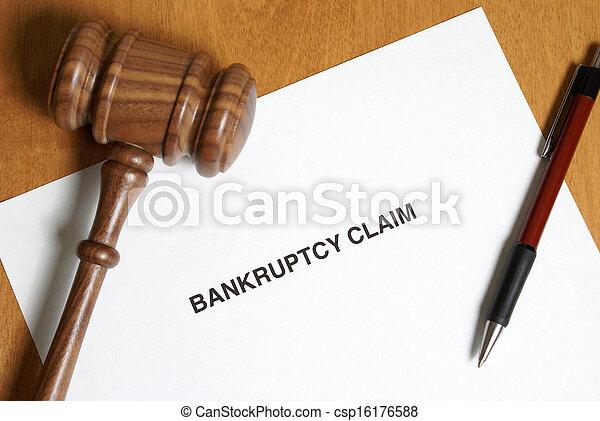 Reclama de bancarrota - csp16176588