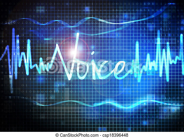recognition voz - csp18396448