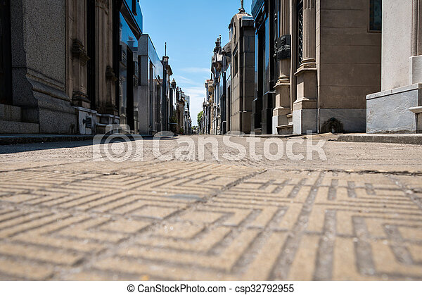 recoleta, cimetière, aires, argentin, buenos - csp32792955
