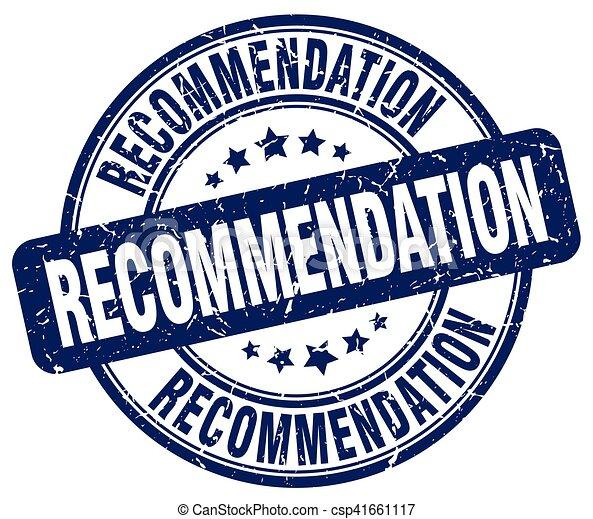 recommendation blue grunge stamp - csp41661117