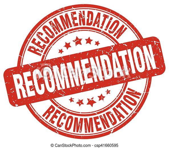 recommendation red grunge stamp - csp41660595