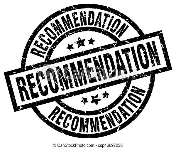 recommendation round grunge black stamp csp46697238