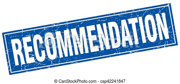 recommendation square stamp - csp42241847