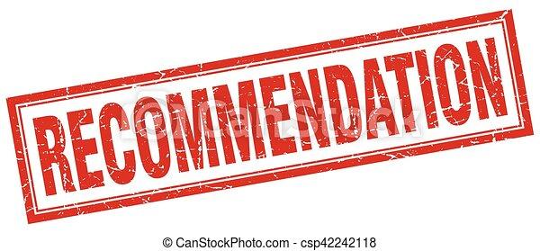 recommendation square stamp - csp42242118