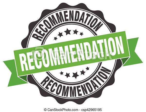 recommendation stamp. sign. seal - csp42965195