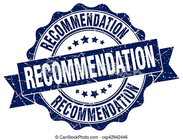 recommendation stamp. sign. seal - csp42942446