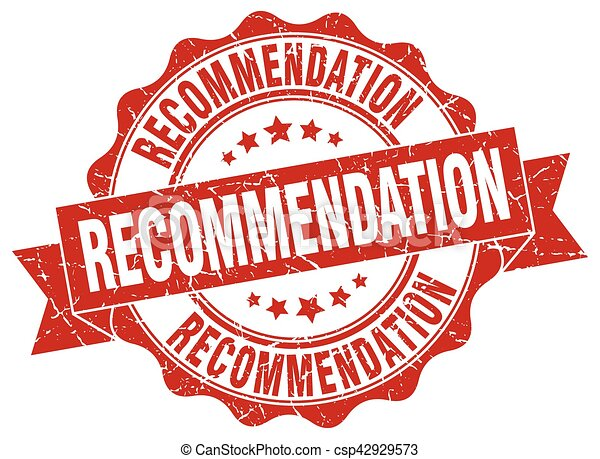 recommendation stamp. sign. seal - csp42929573