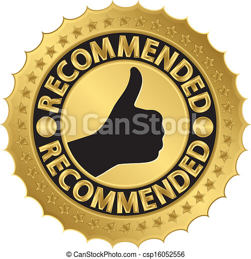 Recommended golden label, vector il - csp16052556