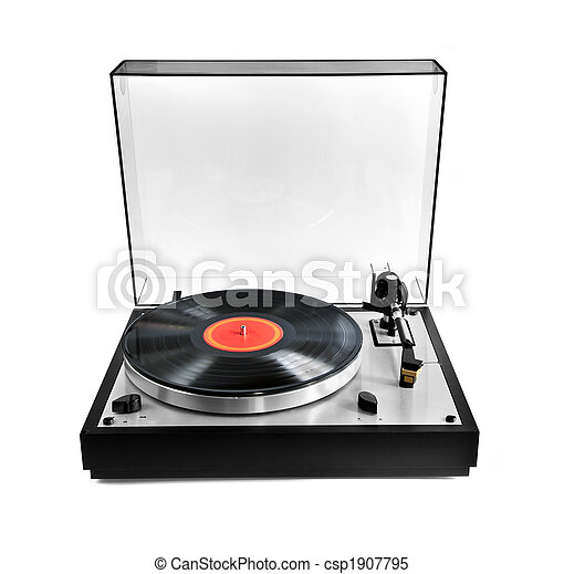 Record on turntable - csp1907795