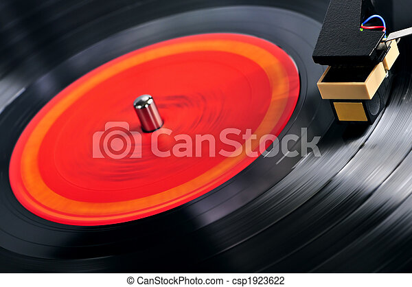 Record on turntable - csp1923622