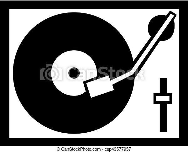 record player icon clipart vector search illustration drawings rh canstockphoto ca Millennials Clip Art turntable clip art free