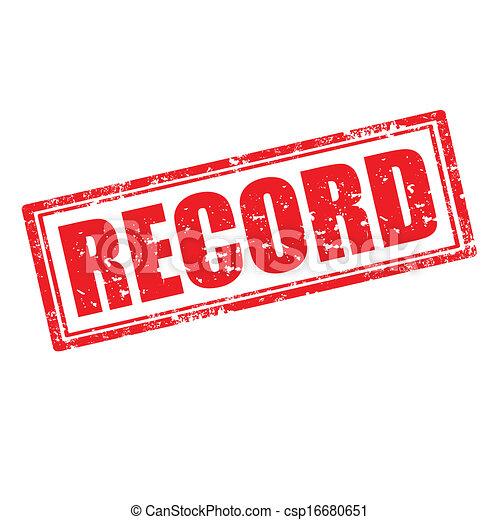 LE CANADIENS SE LAISSE COULER  - Page 3 Record-stamp-clipart-vector_csp16680651