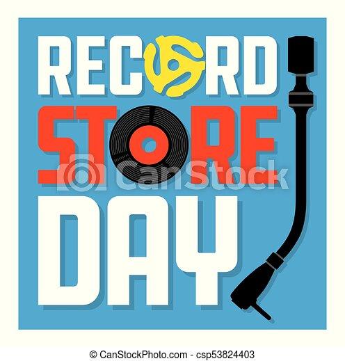 Record Store Day Album Cover Design. - csp53824403