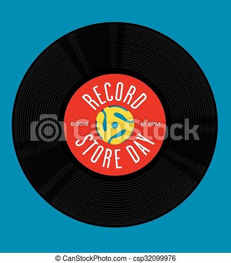 Record Store Day Design - csp32099976