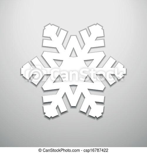 Corta el copo de nieve de Navidad - csp16787422