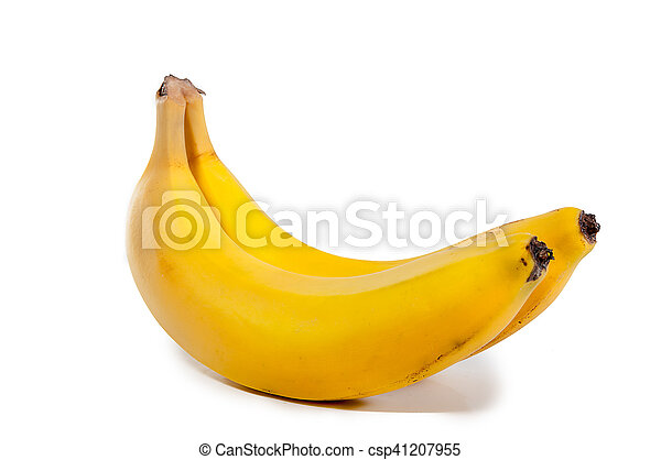 Banana aislada en fondo blanco con ruta de recorte - csp41207955