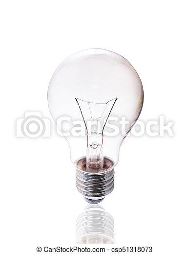 Bulb aislado en fondo blanco con camino de recorte. - csp51318073