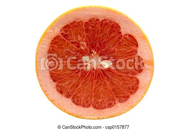Fruta aislada en el fondo blanco con el camino de cortar - csp0157877