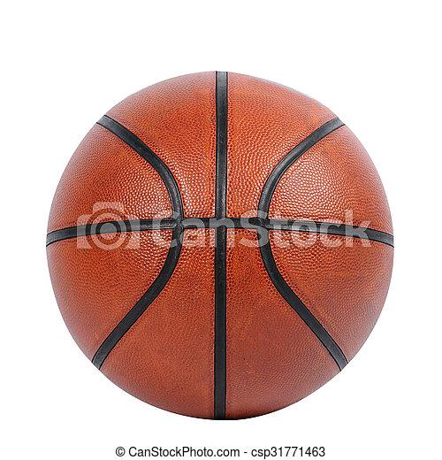 Baloncesto aislado en fondo blanco con camino de recorte - csp31771463