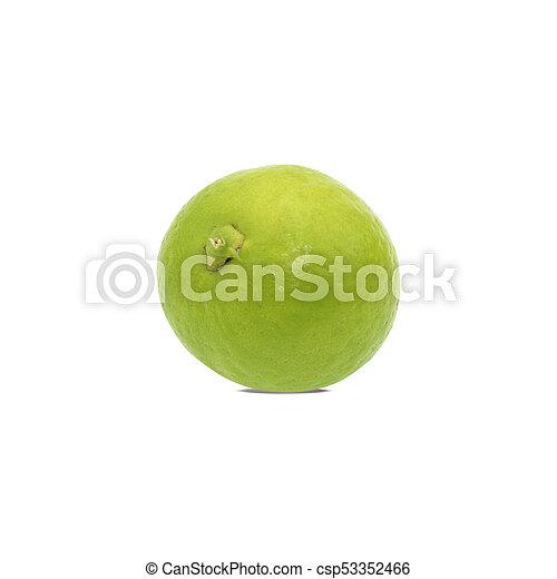 Limón aislado en fondo blanco. Con el camino de recorte - csp53352466