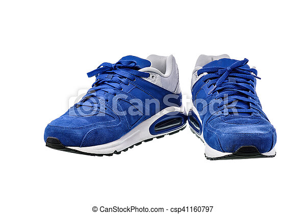 Zapatos deportivos en fondo blanco con camino de recorte - csp41160797