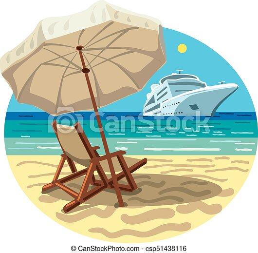 recours, bateau, plage, croisière - csp51438116