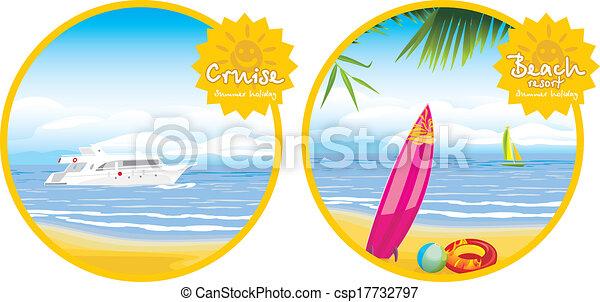 recours, plage, croisière - csp17732797