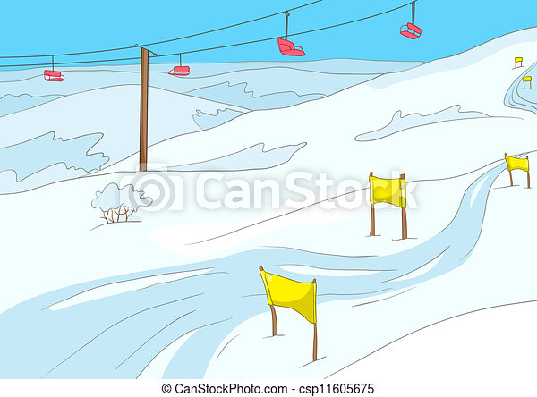 recours, ski - csp11605675