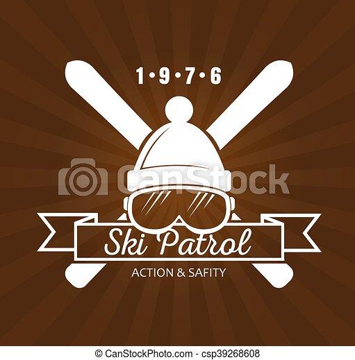 recours, ski, logo - csp39268608