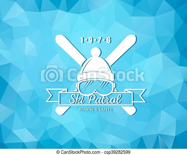 recours, ski, logo - csp39282599