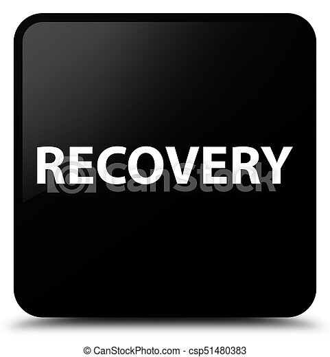 Recovery black square button - csp51480383